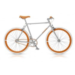 "Pignon fixe Nuda 28"" gris orange"
