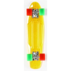 "Skateboard Cruiser Retro Plastic Transparent 22"" Jaune Prohibition"